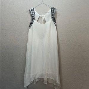 BCBG Backless White Dress